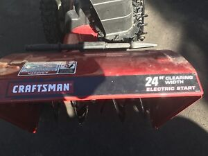 """Craftsman 24"""" snow blower with electric start - best offer"""