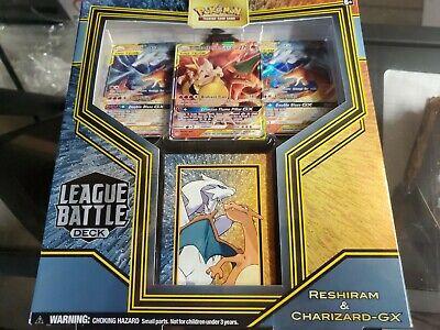 Pokemon Reshiram & Charizard-GX Leage Battle Deck Box FACTORY SEALED!!!