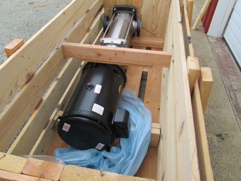 """Grundfos S/s Vertical Pump #crn45-5-2a-g-g-e-huue 3"""" Flg 25hp 380-415v 50 Hz Nib"""