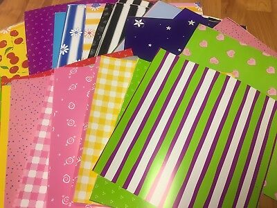 Cherry Scrapbooking Paper - Huge Lot 50 sheets Scrap in a Snap Scrapbook Paper 12x12 bright flower cherry 12