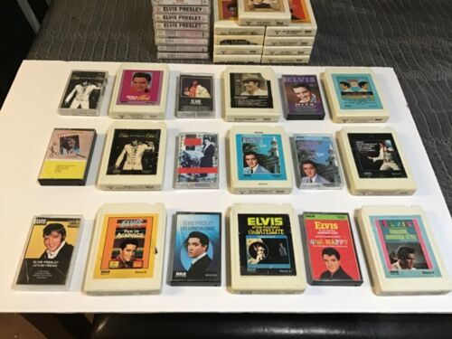 LOT of 43  Elvis Presley 8 Track Tapes And cassette Tapes using conditions.