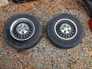 "13"" steel wheels with chevy caps and rings"
