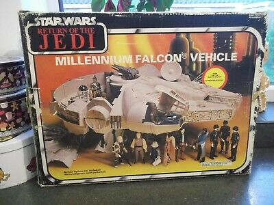 VINTAGE STAR WARS MILLENNIUM FALCON ROTJ BI LOGO BOX ONLY 1983