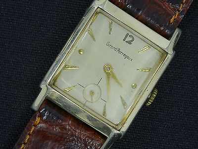 VINTAGE GIRARD PERREGAUX SWISS MEN'S MECHANICAL SMALL SECONDS WRIST WATCH * WORK