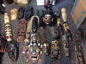 Hand carved wooden masks