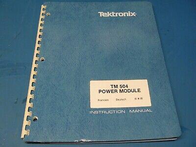 Tektronix Tm504 Mainframe Service Manual For Tm500 Series