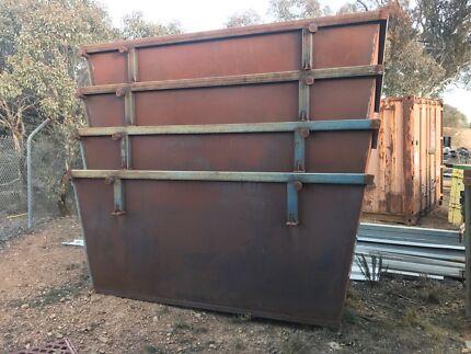 Skip bins 4m3 with rear door, brand new