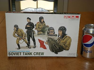 SOVIET TANK CREW, Plastic Model Kit, Scale 1:35, Vintage