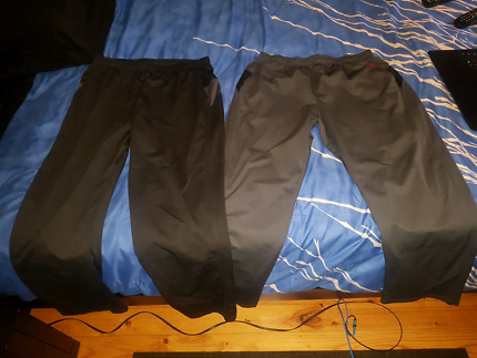 2x 3XL TRACK PANTS ( ONE BLACK PAIR AND ONE GREY  PAIR)