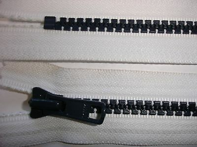 RV404 Reißverschluß YKK weiß 16cm lang, nicht teilbar 2 Stück