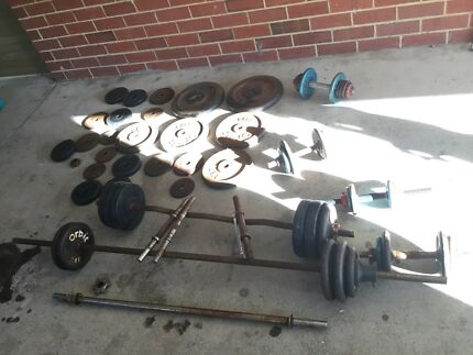 Gym bench weights nearly 200kg