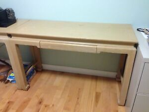 Solid Oak Table/Desk with drawer