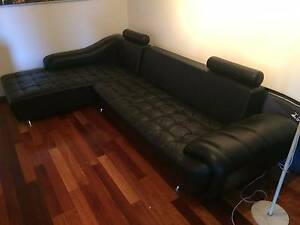 black leather sofa - 2 piece Maroubra Eastern Suburbs Preview