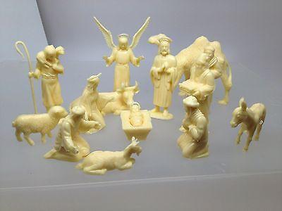 Marx recast Nativity set toy figures