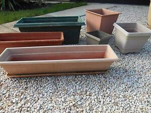 PLANTER POTS 6 RECTANGULAR AND SQUARE Lockleys West Torrens Area Preview
