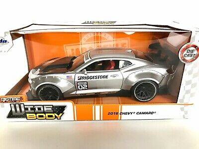 Jada Bigtime Muscle 2016 Chevrolet Camaro Silver Wide Body 1:24 Scale Model Car