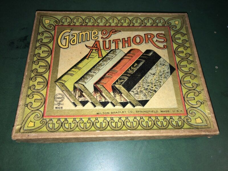 Vintage Rare Game of AUTHORS Card Milton Bradley 1800's Complete Springfield MA