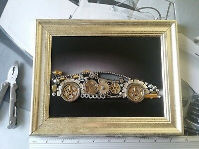 Aventador Art Steampunk Silver PVC Frame Approx 9.64x7.67 inches