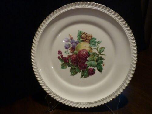 Harker pottery strawberry fruit design dinner plate - 22kt gold trimmed