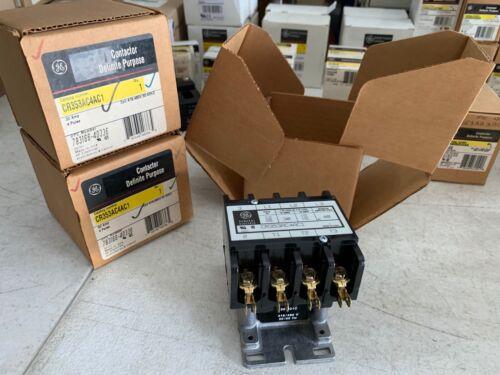 1x GE CR353AC4AC1 Definite Purpose Contactor 30 Amp 4 Poles 416-480V Coil, NOS
