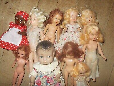 VTG 7 Story Books Dolls & 3 Misc Dolls Mixed Lot