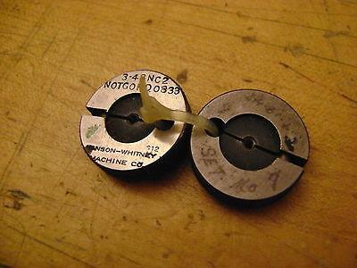 3 X 48 Thread Ring Gages Go P.d. .0855 No Go P.d. .0833