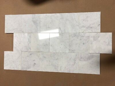 Tile About 6x6 Natural Stone Italian Carrara Polished Marble 15 Pcs Floor 1 Case ()