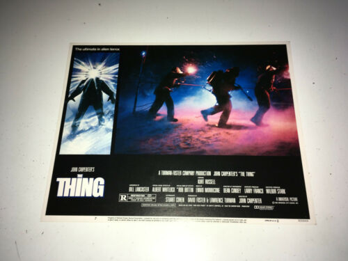 THE THING Movie Lobby Card Poster 1982 John Carpenter Sci-Fi Monster Horror