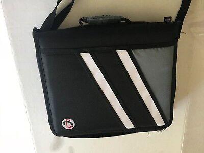Case It The Z 3 Ring Binder 3 Black Handle Strap Pockets No Packaging