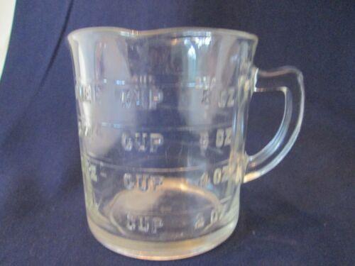 3 SPOUT MEASURING CUP! Vintage HAZEL ATLAS GLASS kitchenware depression CRYSTAL