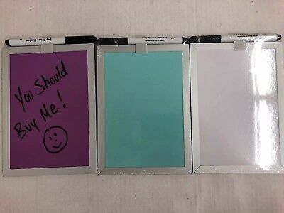 Mini MAGNETIC DRY ERASE BOARD WITH MARKER 5x7 Locker Organizer Set Of 3 Foray