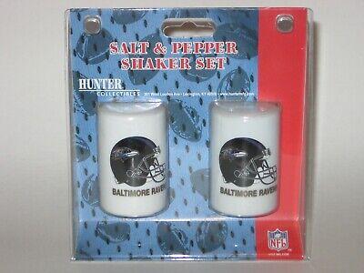 Baltimore Ravens Ceramic Salt & Pepper Shaker Set With Team Logo Baltimore Ravens Salt