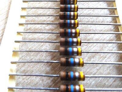 10x 10m Ohm 12w Carbon Composition Resistor Allen Bradley Lrcr20g106ks 0.5w 106