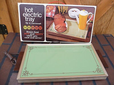 Vintage CORNWALL Hot Electric Food Buffet Warmer Tray Avocado Green