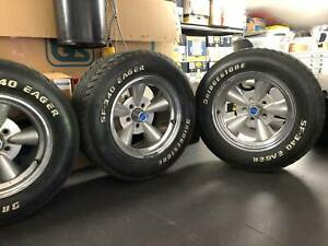 Dragway mag wheels. Set of 4, to suit early Holden, Torana etc.