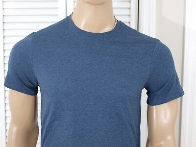 Pima Crewneck Tee - Armani Exchange Authentic Pima Crewneck T Shirt Heather Blue NWT