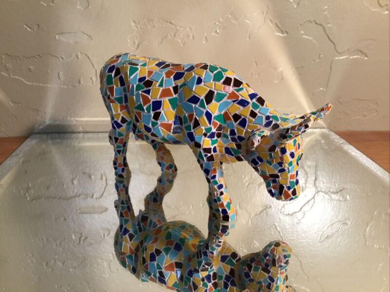 Cow Parade #9143 MOOSAIC Collectible Westland Giftware Figurine 2002