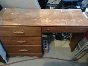 Solid wood desk for refinishing
