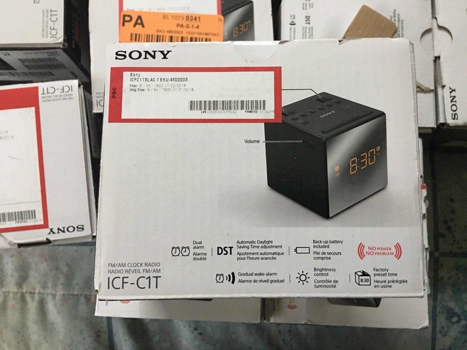 Sony ICF-C1 AM/FM Alarm Clock Radio - Black (USED)
