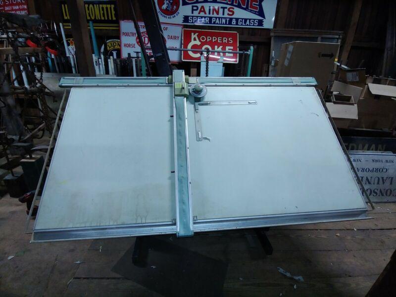 Vintage Drafting Table, 60 Tracmaster Drafting Machine