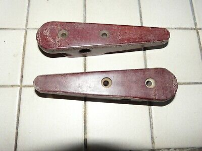 Pair of Classic Tufnol Jamming Cleats 155mm Headsail Sheet Sailing Yacht