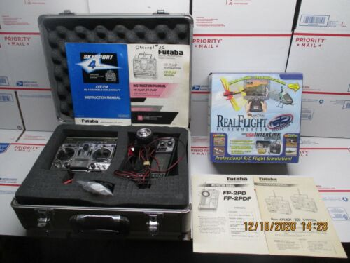 Real Flight R/C Simulator Great Planes G2 Futaba FP-7UAF and FP-2PD and CASE RC