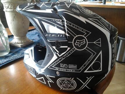 fox motorcoss helmet