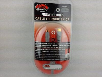 FireWire GOLD Geek Squad 6' 6-4 pin brooches DIGITAL CAMCORDER transfer cord