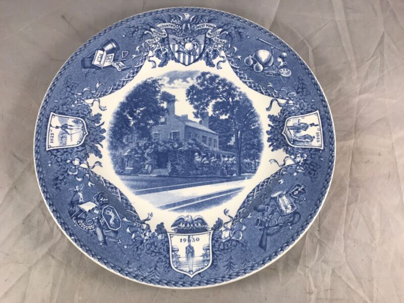 1931 WEDGWOOD USMA. WEST POINT MILITARY ACADEMY PLATE SUPERINTENDENTS QUARTERS