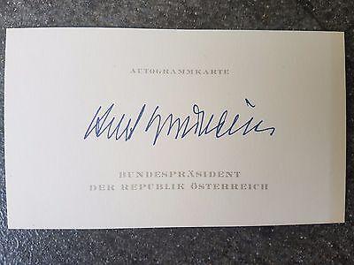 Visitenkarte mit Druck AG Kurt Waldheim + verst. AUT ex.Bundespräsident Rarität!