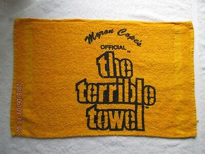 Terrible Towel Football NFL Pittsburgh Steelers Myron Cope Official Gold Towel