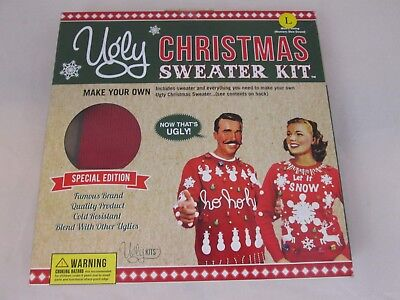 UGLY CHRISTMAS SWEATER KIT - Mens Size Large Unisex - Ugly Kits - - Ugly Christmas Sweater Kit