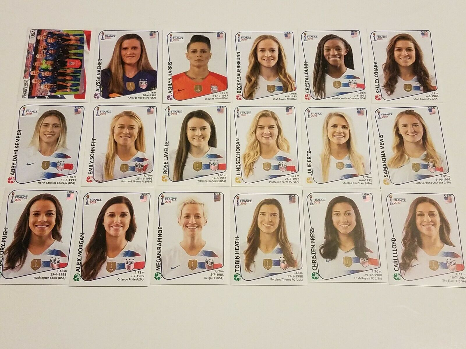 USA NATIONAL TEAM - PICK ANY!! - FIFA WOMEN'S WORLD CUP FRANCE 2019 PANINI