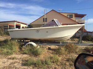 17 Ft Fiberglass Boat No trailer no motor